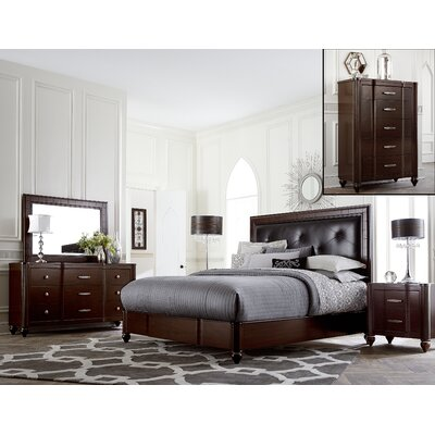 Roma Panel 5 Piece Bedroom Set by Hillsdale