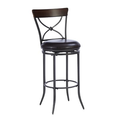 "Hillsdale Furniture Cameron 30"" Swivel Bar Stool with Cushion"