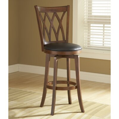 "Hillsdale Furniture Mansfield 24"" Swivel Bar Stool with Cushion"
