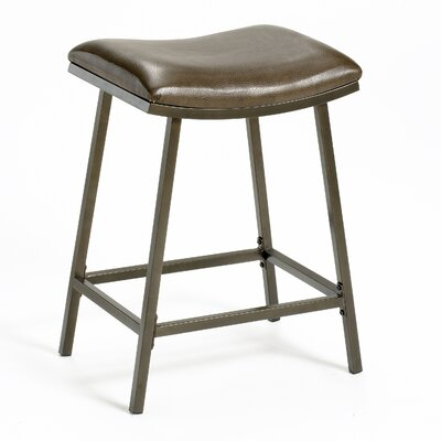 Saddle Adjustable Height Bar Stool with Cushion by Hillsdale