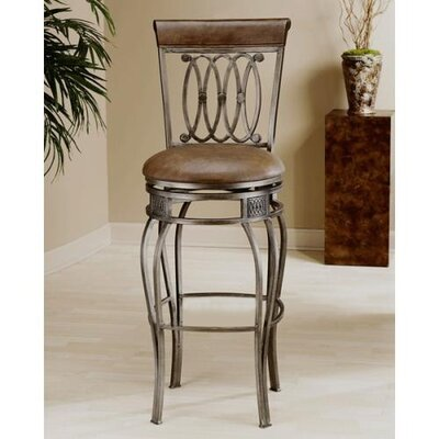 "Hillsdale Furniture Easy Assembly Montello 24"" Swivel Bar Stool"