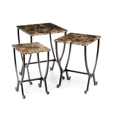 Monaco 3 Piece Nesting Tables by Hillsdale