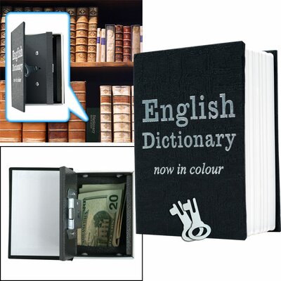 Trademark Home Collection Mini Dictionary Diversion Book Safe with Key Lock