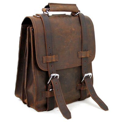 Full Leather Sport Motor Travel Backpack by Vagabond Traveler