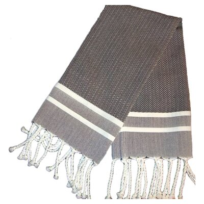 Fouta Herringbone Stripe Hand Towel by Scents and Feel