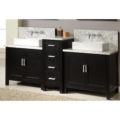 "Horizon 84"" Double Bathroom Vanity Set Product Photo"