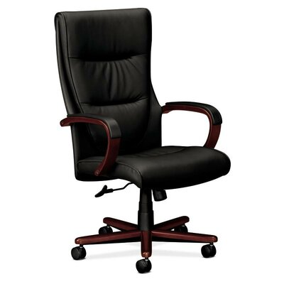 Basyx by HON VL844 Series High-Back Leather Executive Chair
