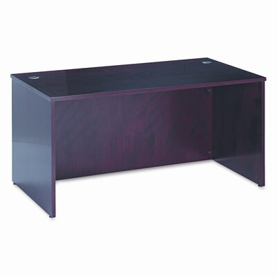 "Basyx by HON 72"" BW Veneer Series Rectangular Executive Desk Shell"