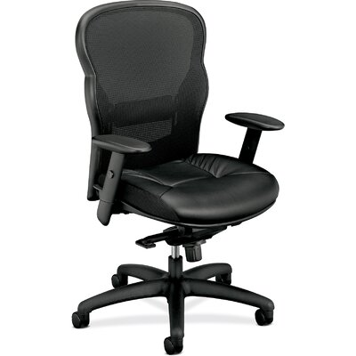 Basyx by HON VL700 Series High-back Mesh Conference Chair with Arms