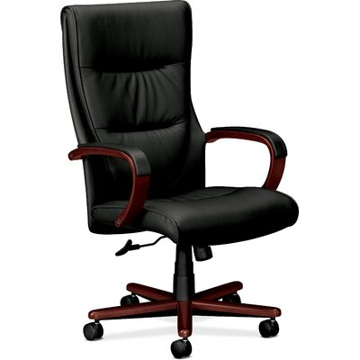 Basyx by HON High Back Leather Chair with Arms