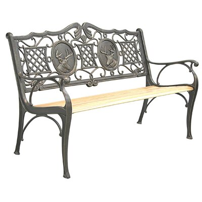 Innova Hearth and Home Deer Cast Iron Park Bench