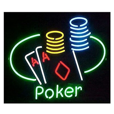 Neonetics Business Signs Poker Table and Chips Neon Sign