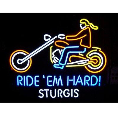 Neonetics Cars & Motorcycles Motorcycle Ride 'Em Hard Sturgis Neon Sign