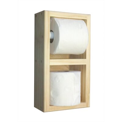 WG Wood Products On the Wall Paper and Spare Roll Holder