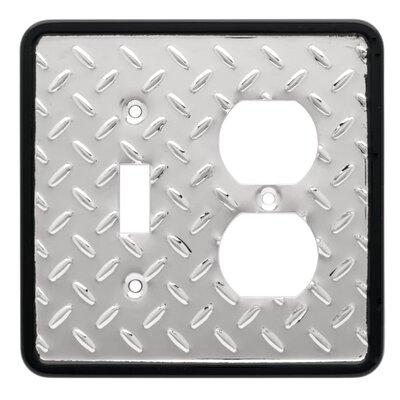 Brainerd Diamond Plate Single Switch/Duplex Wall Plate