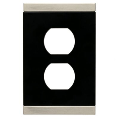 Basic Stripe Single Duplex Wall Plate by Brainerd