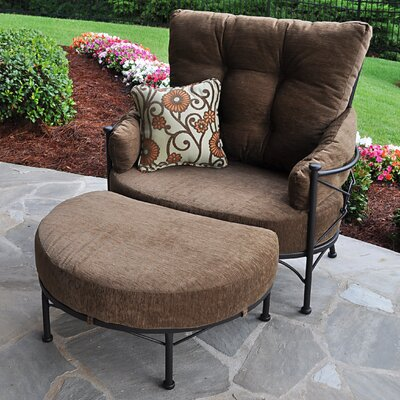 Meadowcraft Grayson Cuddle Chair And Ottoman With Cushion