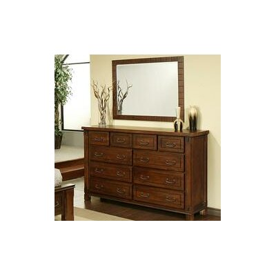 Fergus County 10 Drawer Dresser with Mirror by AYCA Furniture