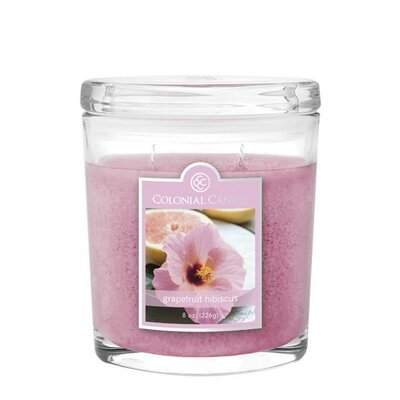 Spring 2015 Grapefruit Hibiscus 8 oz. Jar Candle by Colonial Candle