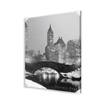 Ace Framing Central Park Photographic Print on Wrapped Canvas