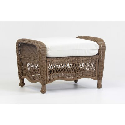 Riviera Ottoman with Cushion by South Sea Rattan