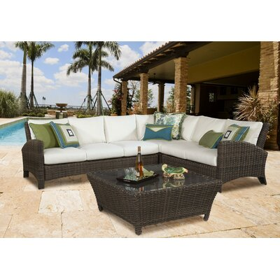 Panama Sectional with Cushion by South Sea Rattan