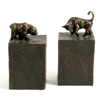 Bey-Berk Bull and Bear Book Ends