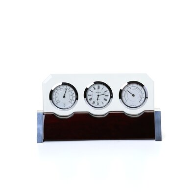 Bey-Berk Clock Thermometer and Hygrometer