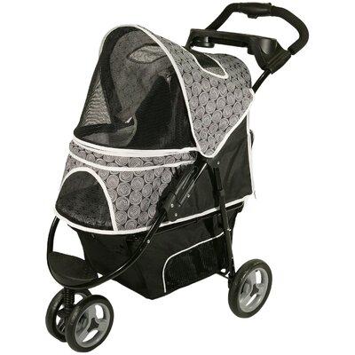 Promenade Standard Pet Stroller in Black & White by Gen7Pets