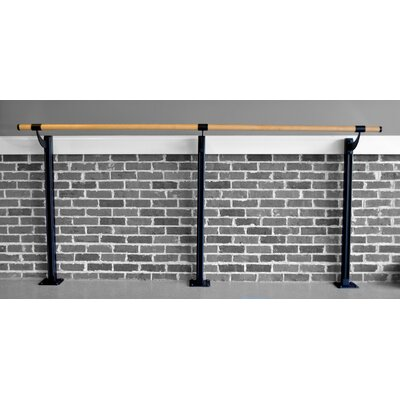 Vita Vibe Floor Barre Series Traditional Wood Single Bar Ballet Barre Kit