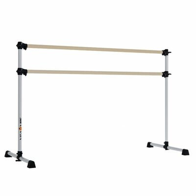 Prodigy Series Traditional Wood Double Bar Ballet Barre by Vita Vibe
