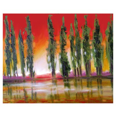'Tuscan Cypress Sunset' by Susi Franco Graphic Art on Canvas by ArtWall