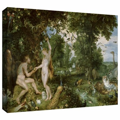 ArtWall 'The Garden of Eden with The Fall of Man' by Pieter Bruegel Gallery Wrapped on Canvas