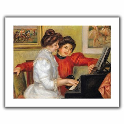 'Yvonne and Christine Lerolle at the Piano' by Pierre Renoir Canvas Poster by ArtWall