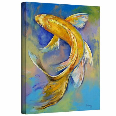ArtWall 'Orenji Butterfly Koi' by Michael Creese Gallery-Wrapped on Canvas