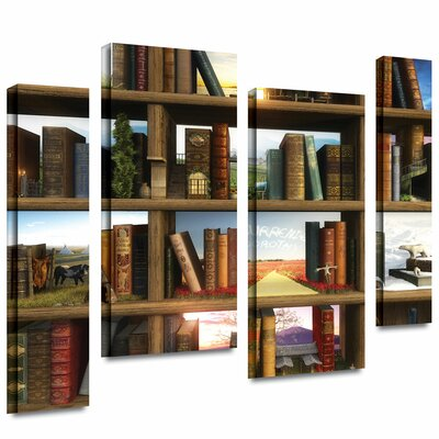 ArtWall 'Story World' by Cynthia Decker 4 Piece Graphic Art Gallery-Wrapped on Canvas Set