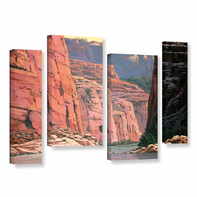 Colorado River Walls by Rick Kersten 4 Piece Gallery-Wrapped Canvas Staggered Set by ArtWall