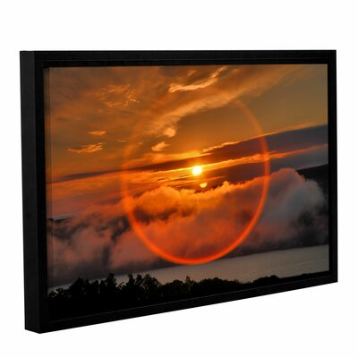 Circle Around Sun by Steve Ainsworth Floater Framed Photographic Print on Gallery Wrapped ...