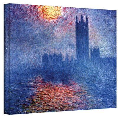 ArtWall ''Houses of Parliament'' by Claude Monet Canvas Painting Print