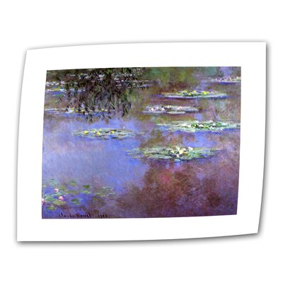 "ArtWall ""Sea Roses II"" by Claude Monet Painting Print on Canvas"