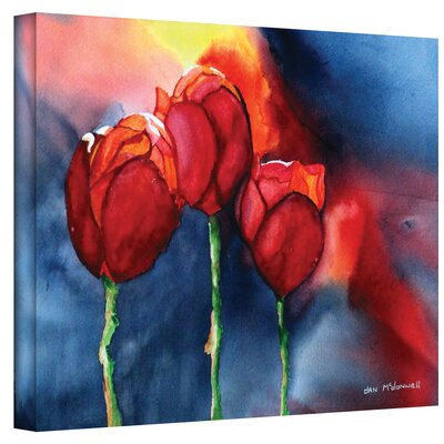 ArtWall 'Tulips' by Dan McDonnell Painting Print on Canvas
