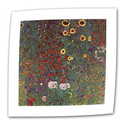 "ArtWall ""Sunflower Grade"" by Gustav Klimt Painting Print on Canvas"