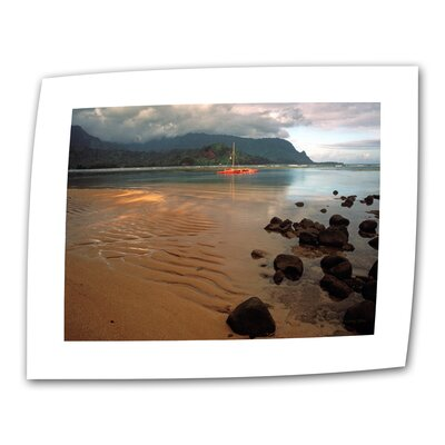 "ArtWall ""Hanalei Bay at Dawn"" by Kathy Yates Photographic Print on Canvas"