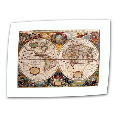 "ArtWall Antique ""Hydrographica Map Antique Map"" Graphic Art on Canvas"