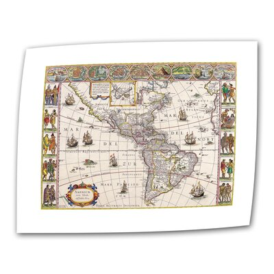 ArtWall Antique Maps 'Map of South America' by Willem Blaeu Graphic Art Canvas