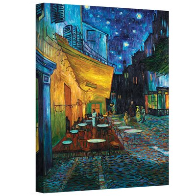 ArtWall 'Cafe Terrace at Night' by Vincent Van Gogh Painting Print on Canvas