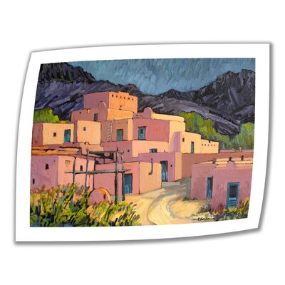 ArtWall 'Taos Pueblo' by Rick Kersten Painting Print on Canvas Poster