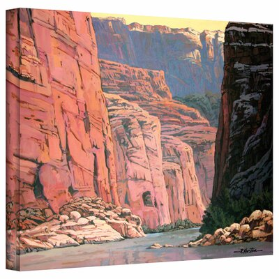 'Colorado River Walls' by Rick Kersten Painting Print on Canvas by ArtWall