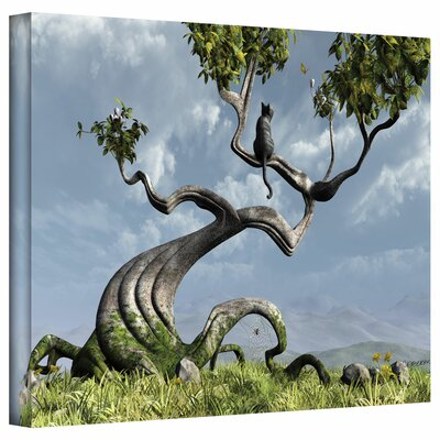 ArtWall 'Sitting Tree' by Cynthia Decker Graphic Art on Wrapped Canvas