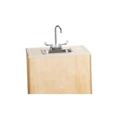 "Jonti-Craft Portable Sink 28"" x 23.5"" Single Wave Clean Hands Helper with Faucet"